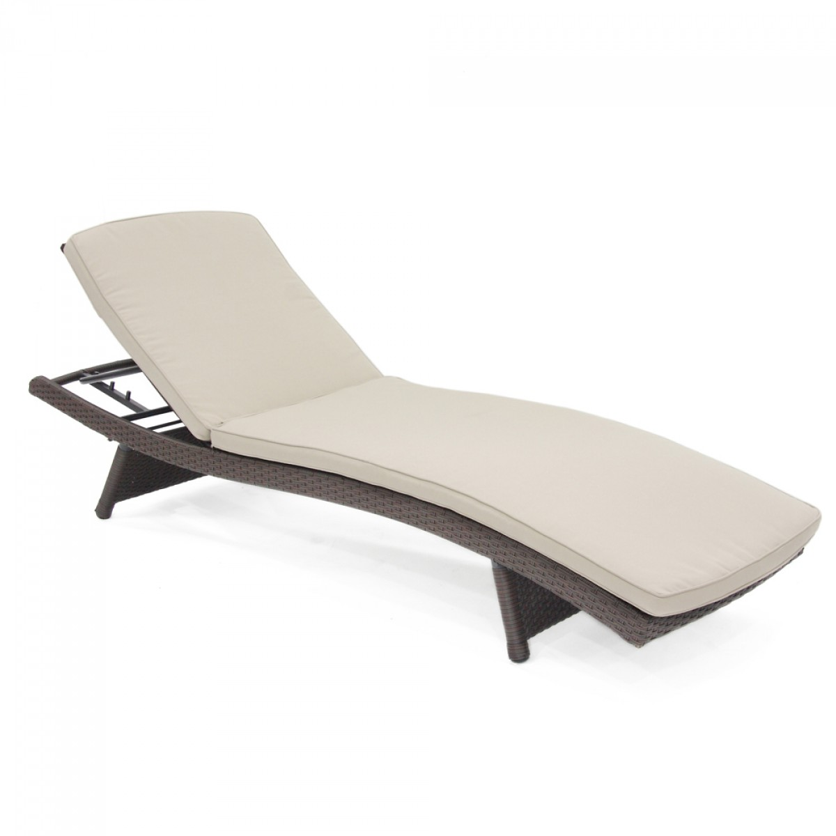 Tan chaise lounger cushion for Chaise longue cushion