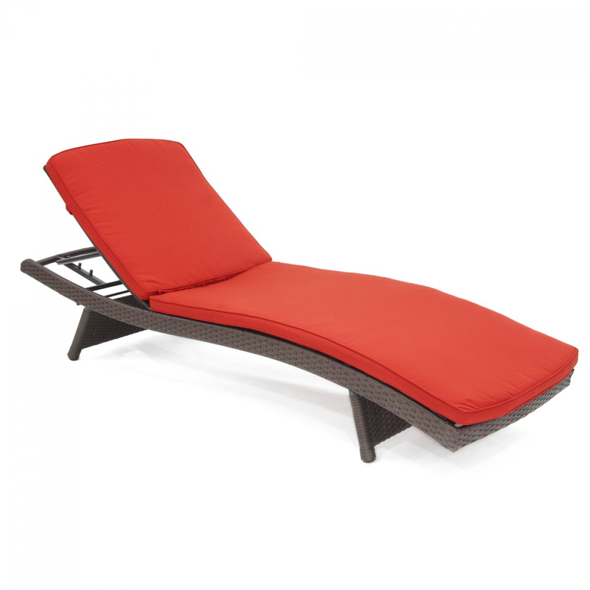Dark red chaise lounger cushion for Chaise cushions