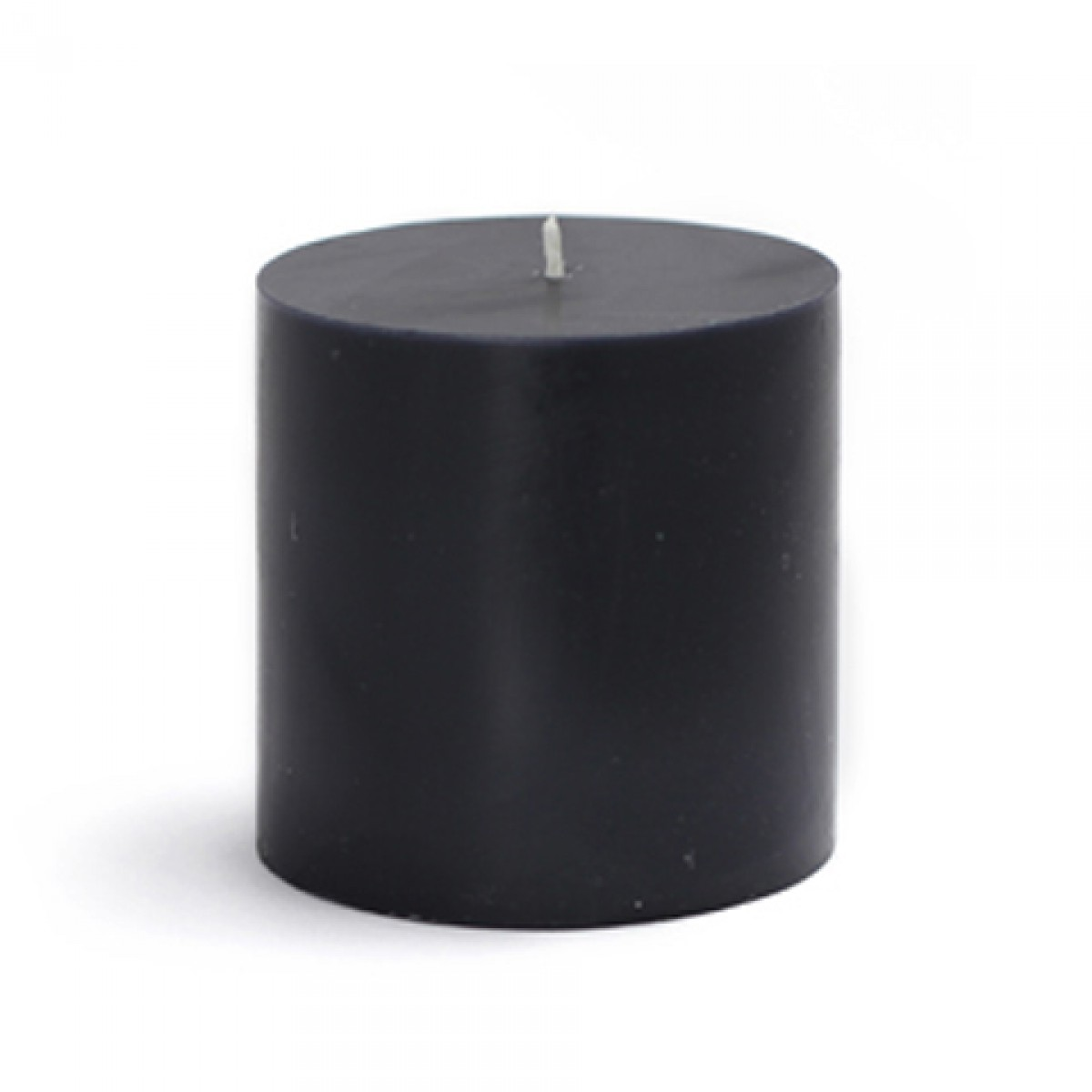 "3 x 3"" Black Pillar Candle"