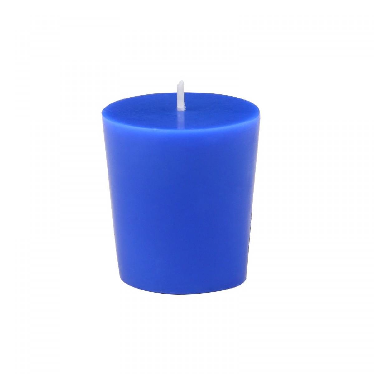 home blue votive candles 96pc case bulk. Black Bedroom Furniture Sets. Home Design Ideas