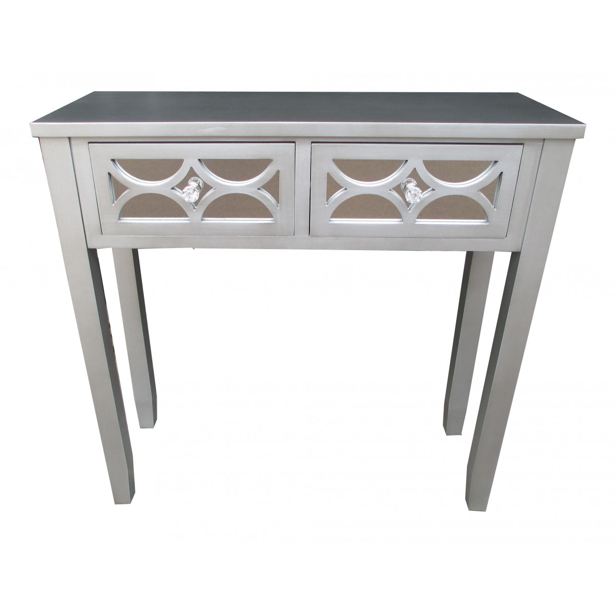 32 Quot H Grey Wooden 2 Drawer Console Table