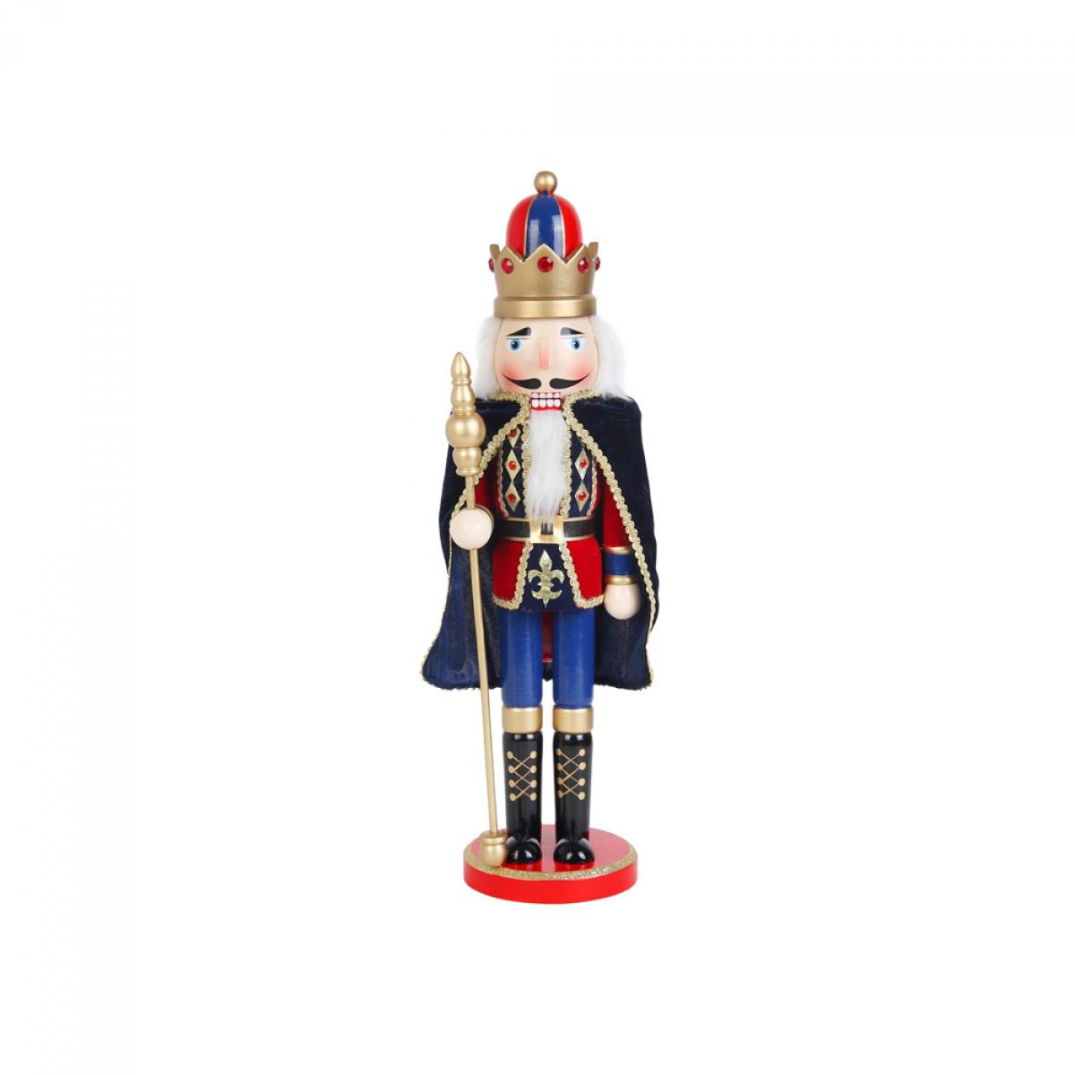 Christmas 18 inch nutcracker king with cape for Floor nutcracker