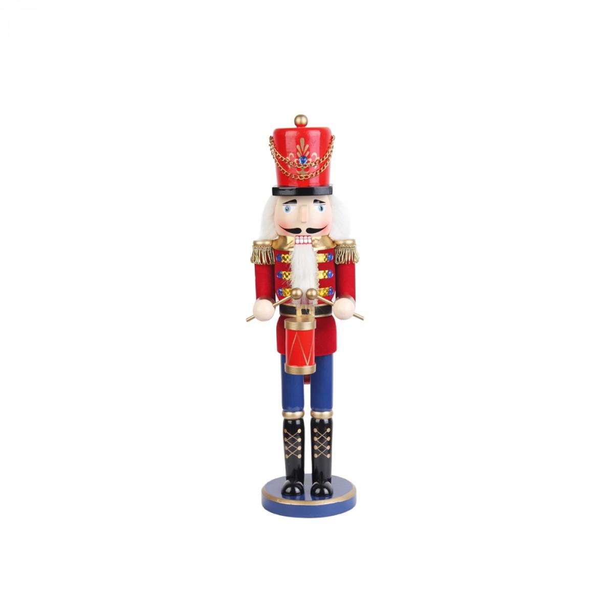 Christmas 18 inch red nutcracker drummer soldier for Floor nutcracker