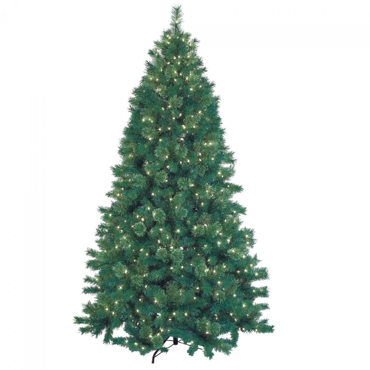 Feet pre lit artificial christmas tree with metal base