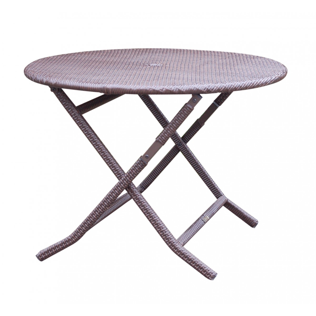 cafe round folding table with wicker on leg. Black Bedroom Furniture Sets. Home Design Ideas