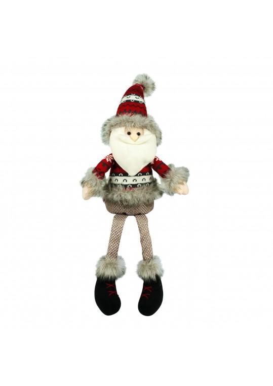"28"" Grey/Red Sitting Santa"