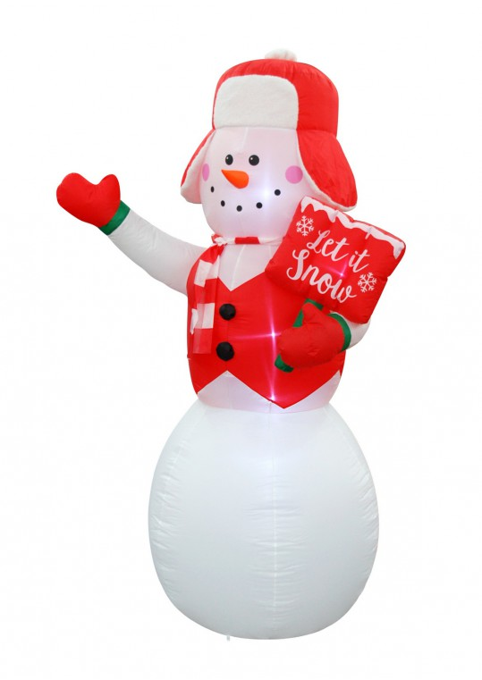 8FT SNOWMAN , INFLATABLE