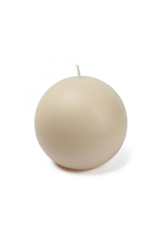 "4"" Pale Ivory Citronella Ball Candles (2pc/Box)"