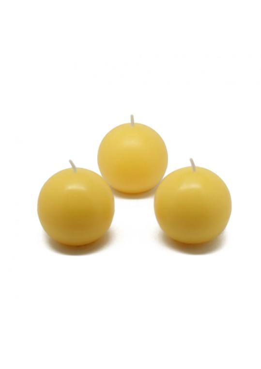 "2"" Yellow Ball Candles (12pc/Box)"