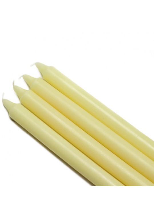 "10"" Ivory Straight Taper Candles (144pcs/Case) Bulk"