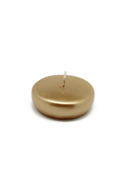 "2 1/4"" Metallic Gold Floating Candles (288pcs/Case) Bulk"
