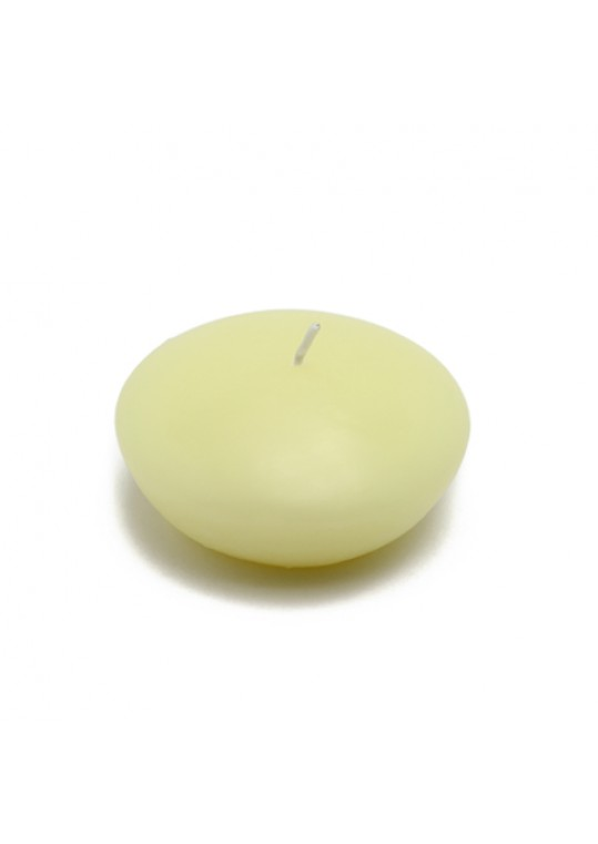 "3"" Ivory Floating Candles (72pcs/Case) Bulk"