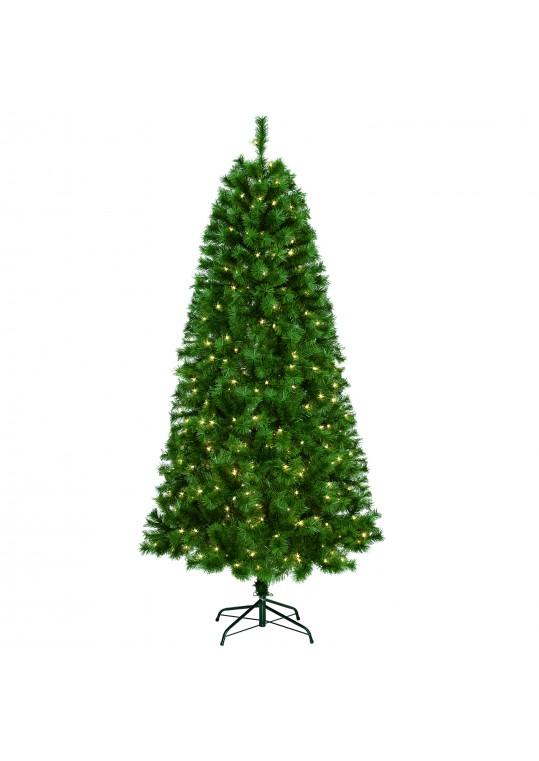 7ft. Prelit Christmas tree with Metal Stand