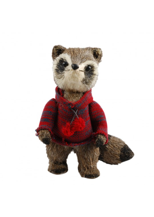 "11.5""H Christmas Decorative Raccoon"