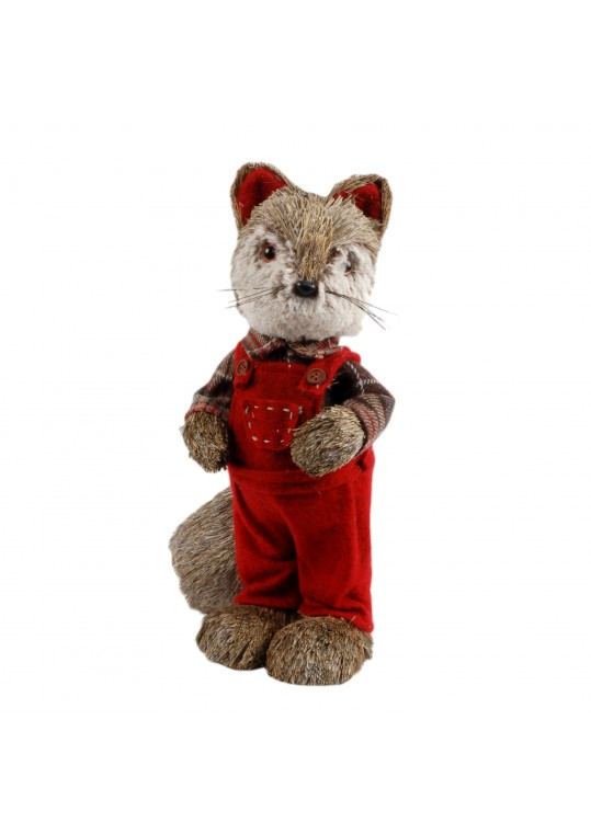 "13""H Christmas Decorative Fox"