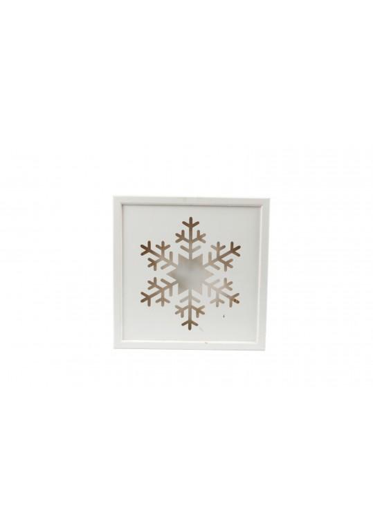 Wooden Illuminated Snowflake