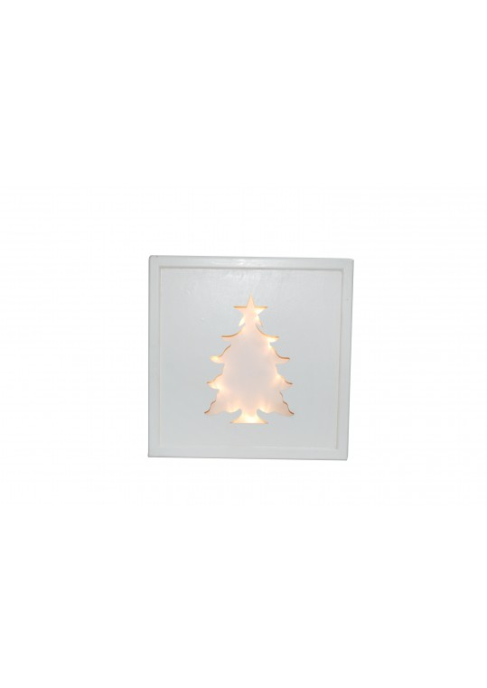 Christmas Wooden Tree Hanging Wall deco with Lights