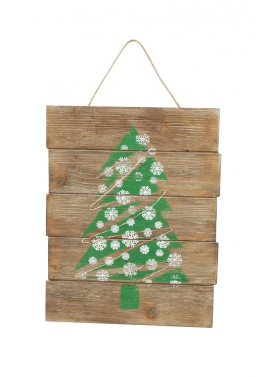 LED Illuminated Wooden Sign (Christmas Tree)