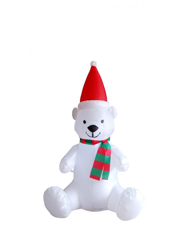 4' Inflatable Polar Bear