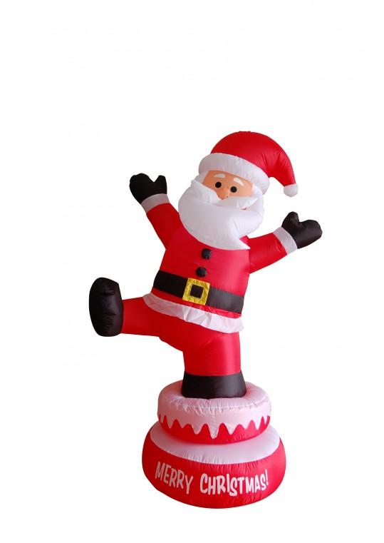 5' Inflatable Rotating Santa Claus