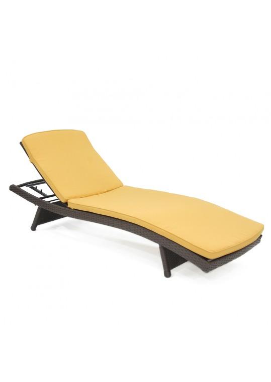 Yellow Chaise Lounger Cushion