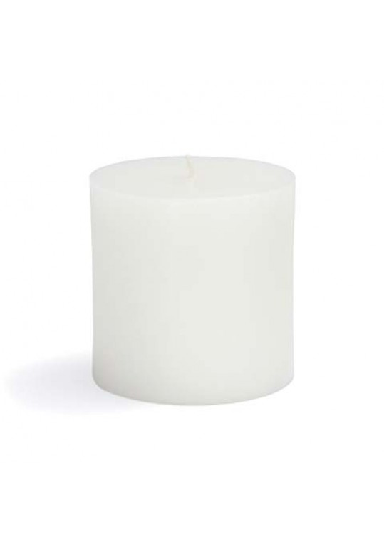 "3 x 3"" White Pillar Candles (12pcs/Case) Bulk"