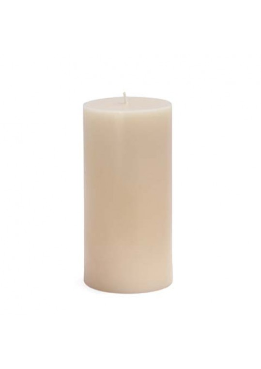 "3 x 6"" Pale Ivory Pillar Candles(12pcs/Case) Bulk"
