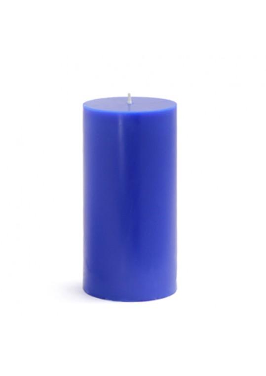 """3 x 6"""" Blue Pillar Candles(12pcs/Case) Bulk"""