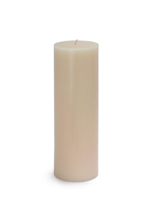 "3 x 9"" Pale Ivory Pillar Candles (12pcs/Case) Bulk"