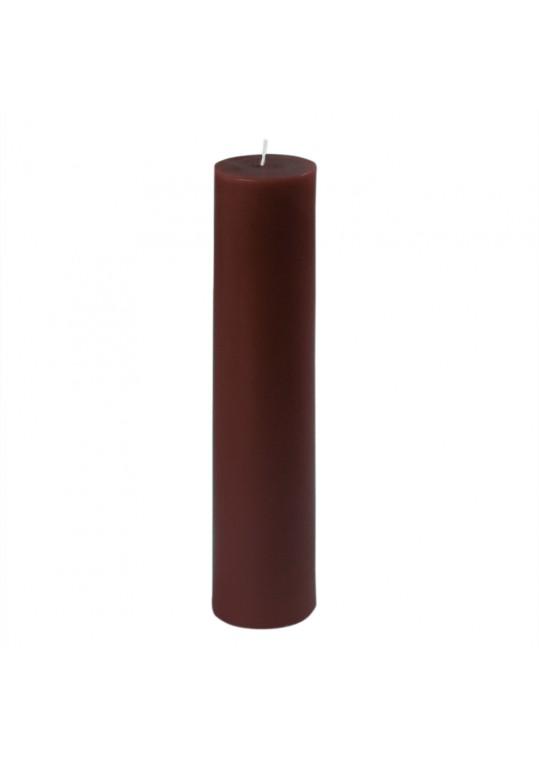 """2 x 9"""" Brown Pillar Candle (12pcs/Case) Bulk"""
