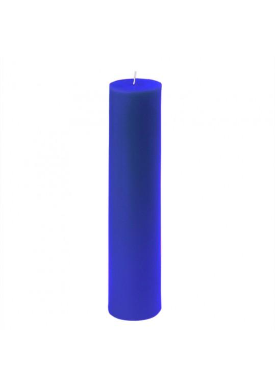 """2 x 9"""" Blue Pillar Candle (12pcs/Case) Bulk"""