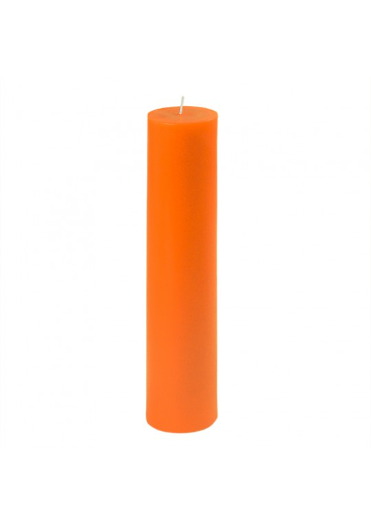 "2 x 9"" Orange Pillar Candle (12pcs/Case) Bulk"