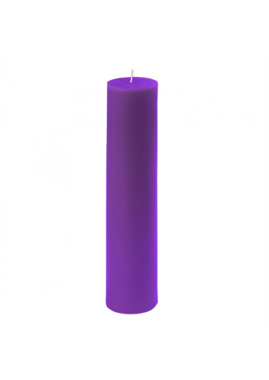 "2 x 9"" Purple Pillar Candle (12pcs/Case) Bulk"