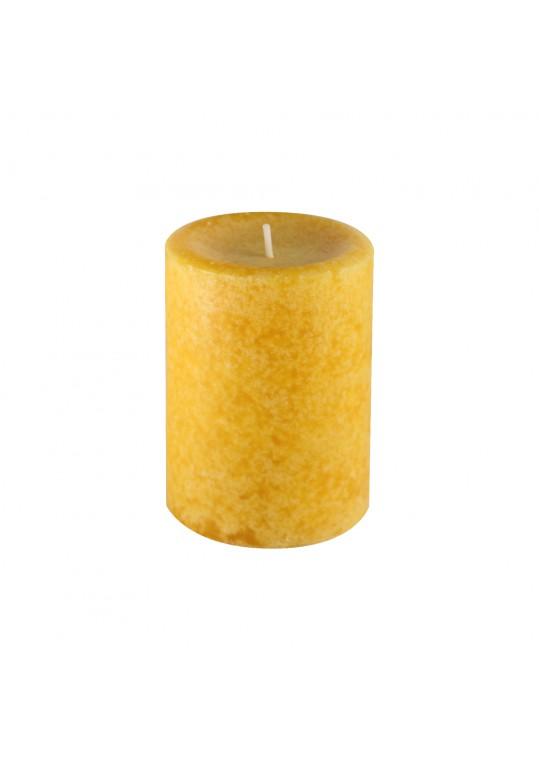 "3"" x 4"" Pumpkin Spice Mustard Scented Pillar Candle"