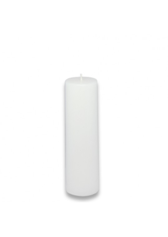 "2 x 6"" White Pillar Candle (24pcs/Case) Bulk"