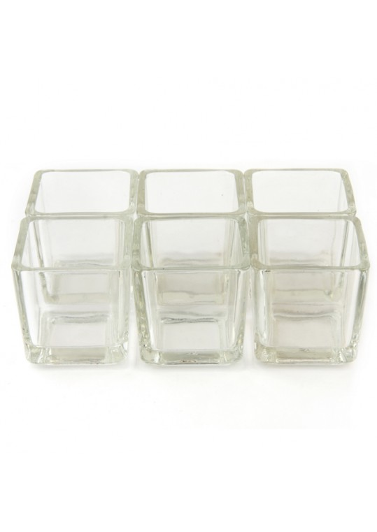 Square Glass Votive Holder (12pc/Box)