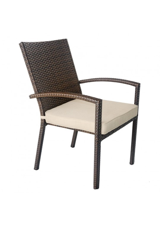 Espresso Dining Chairs With Tan Cushion