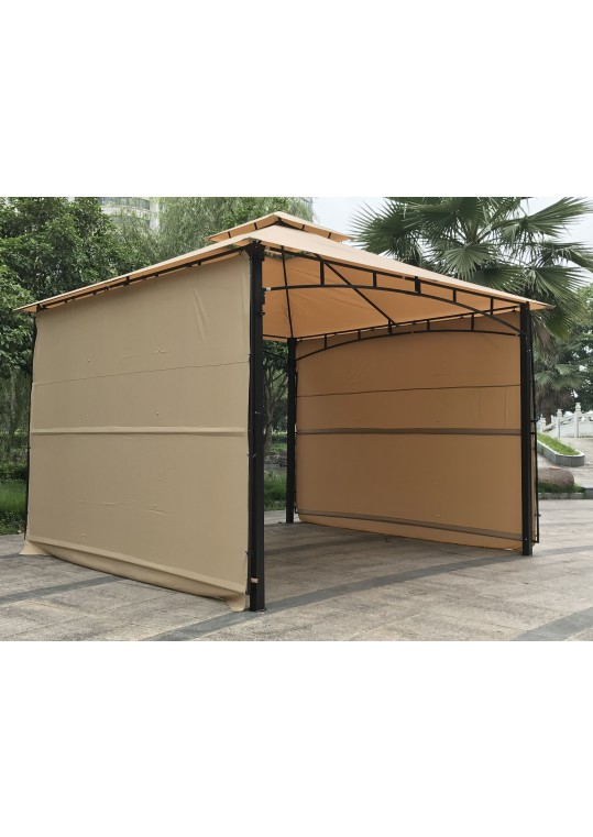 11' x 11 'Meta Gazebo With Two Sides Awning