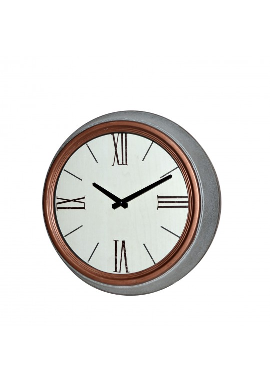 "14.5"" Metal Round Wall Clock"