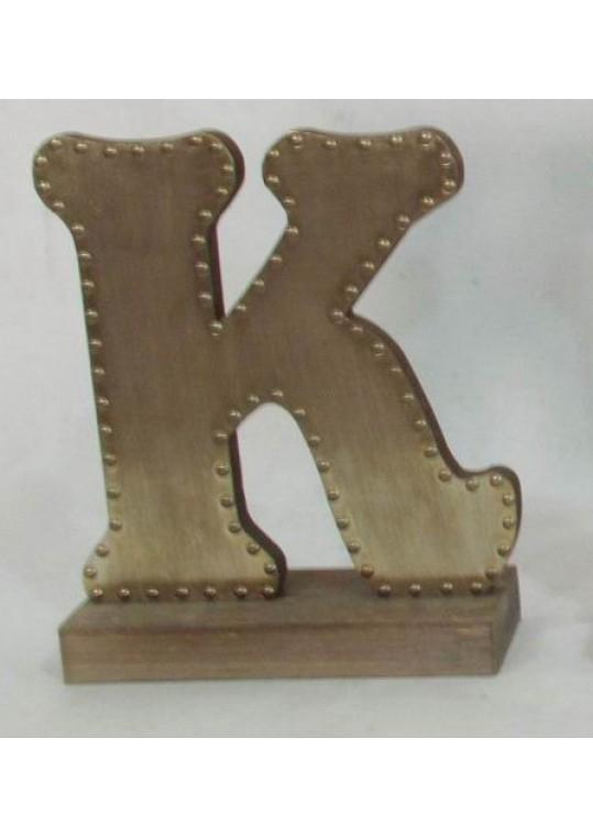 Champagne-colored Decorative Letter (K)