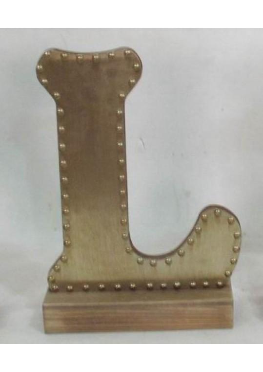 Champagne-colored Decorative Letter (L)