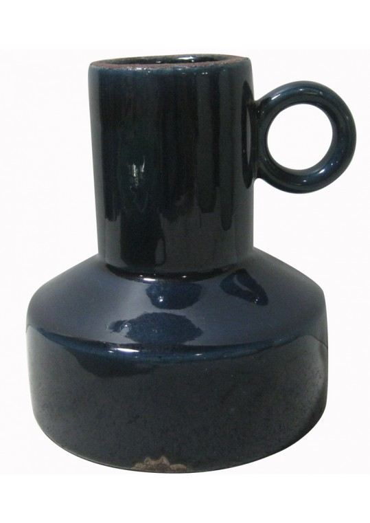 """6"""" Blue Vase with Single Handle"""