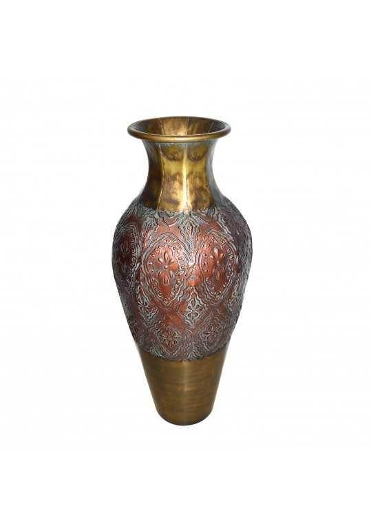 "29.75"" Gold/Copper Metal Vase"