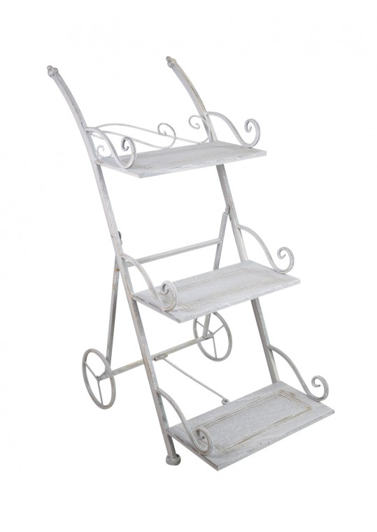 Orchies 3-Tiered Round Metal Plant Stand