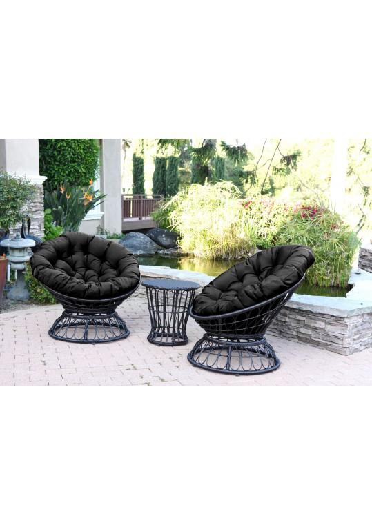 Black Cushion for Papasan Swivel Chair