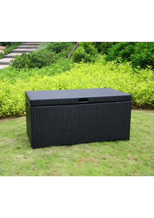 Black Wicker Patio Furniture Storage Deck Box