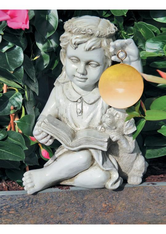 Girl Angel Hangs Solar Led Ball
