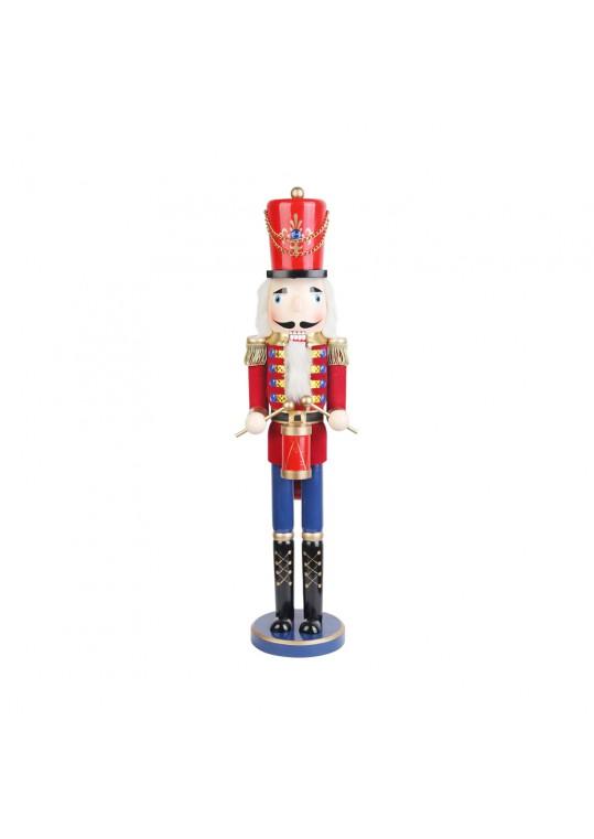 24 Inch Red  Nutcracker Drummer Soldier