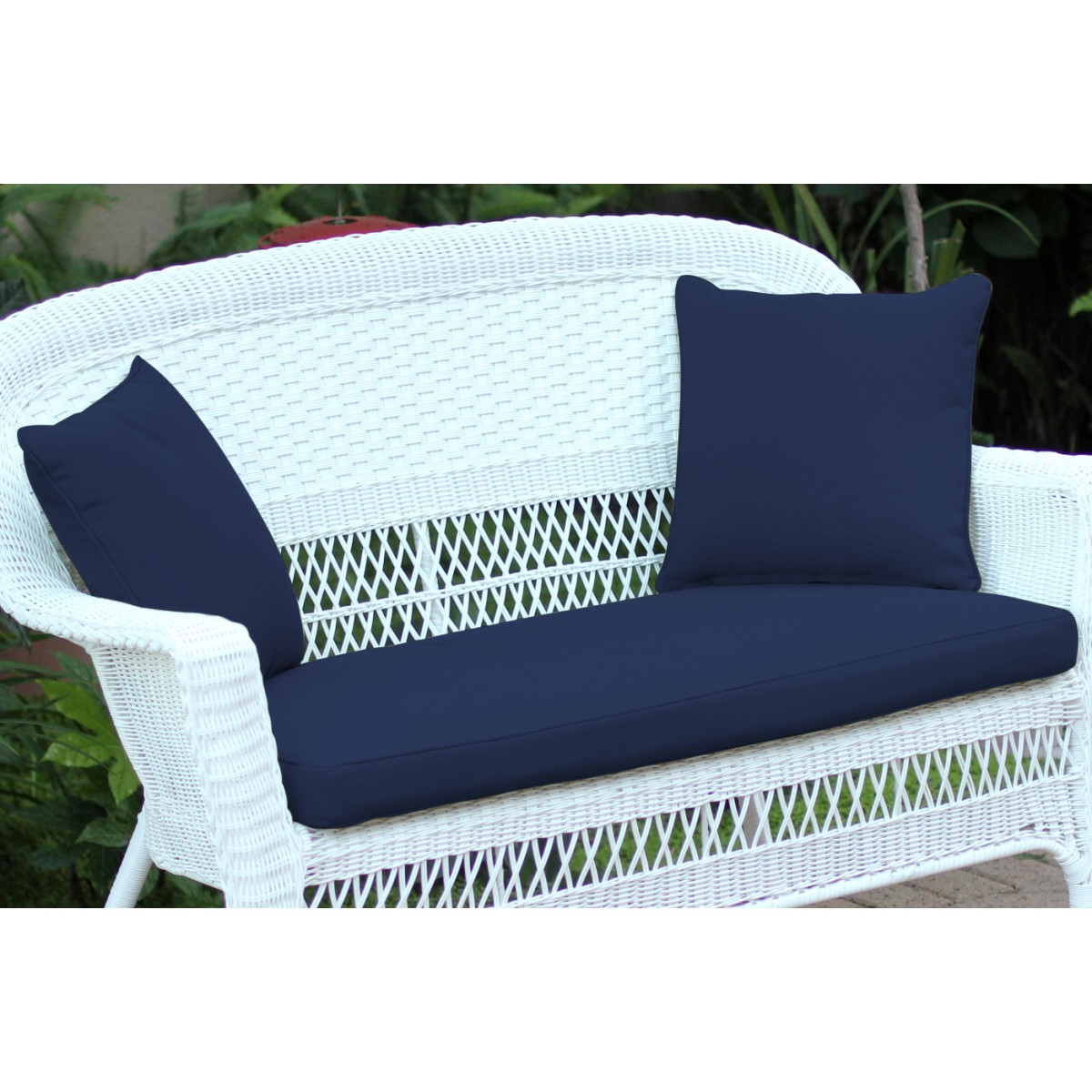 Midnight Blue Loveseat Cushion With Pillows