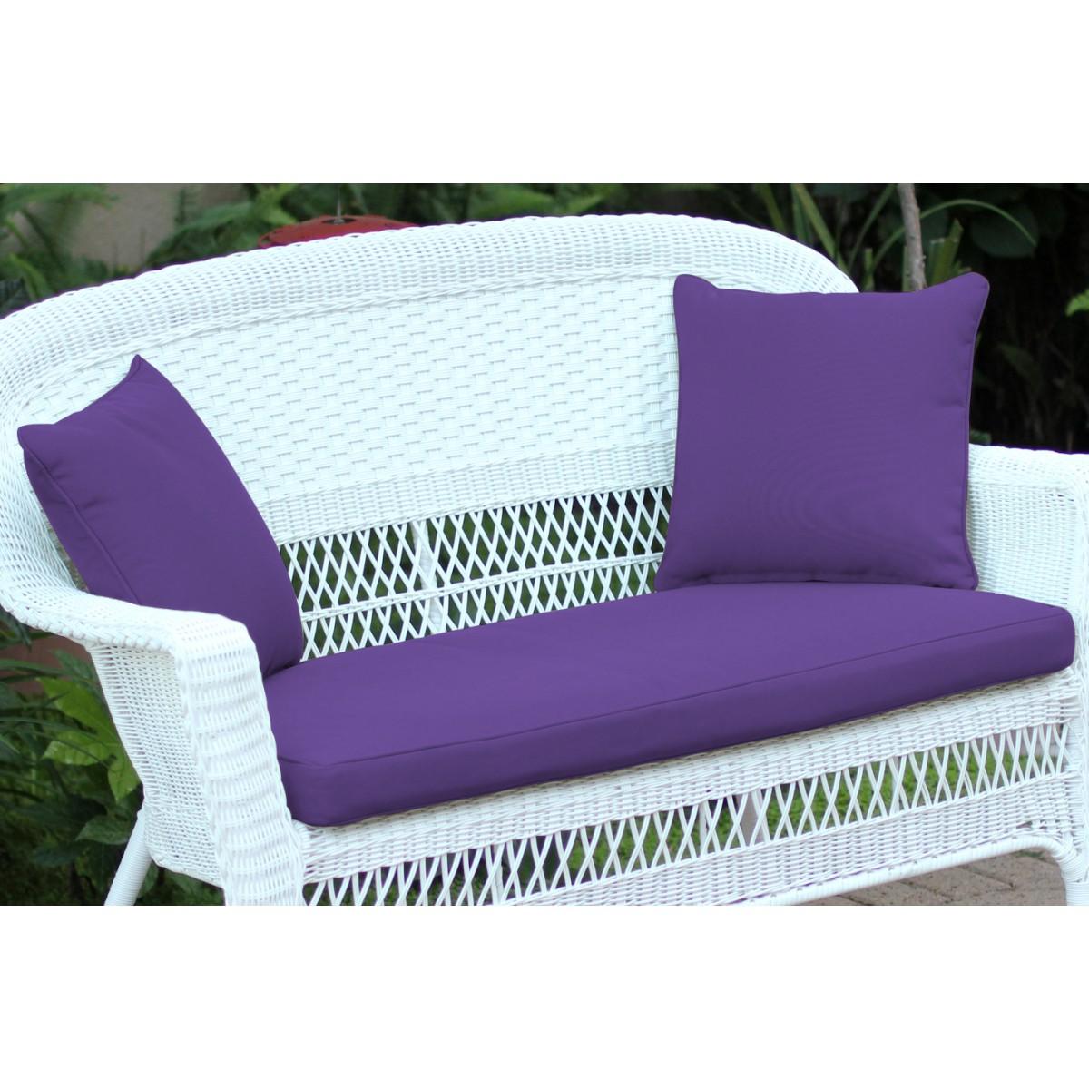 Miraculous Purple Loveseat Cushion With Pillows Lamtechconsult Wood Chair Design Ideas Lamtechconsultcom